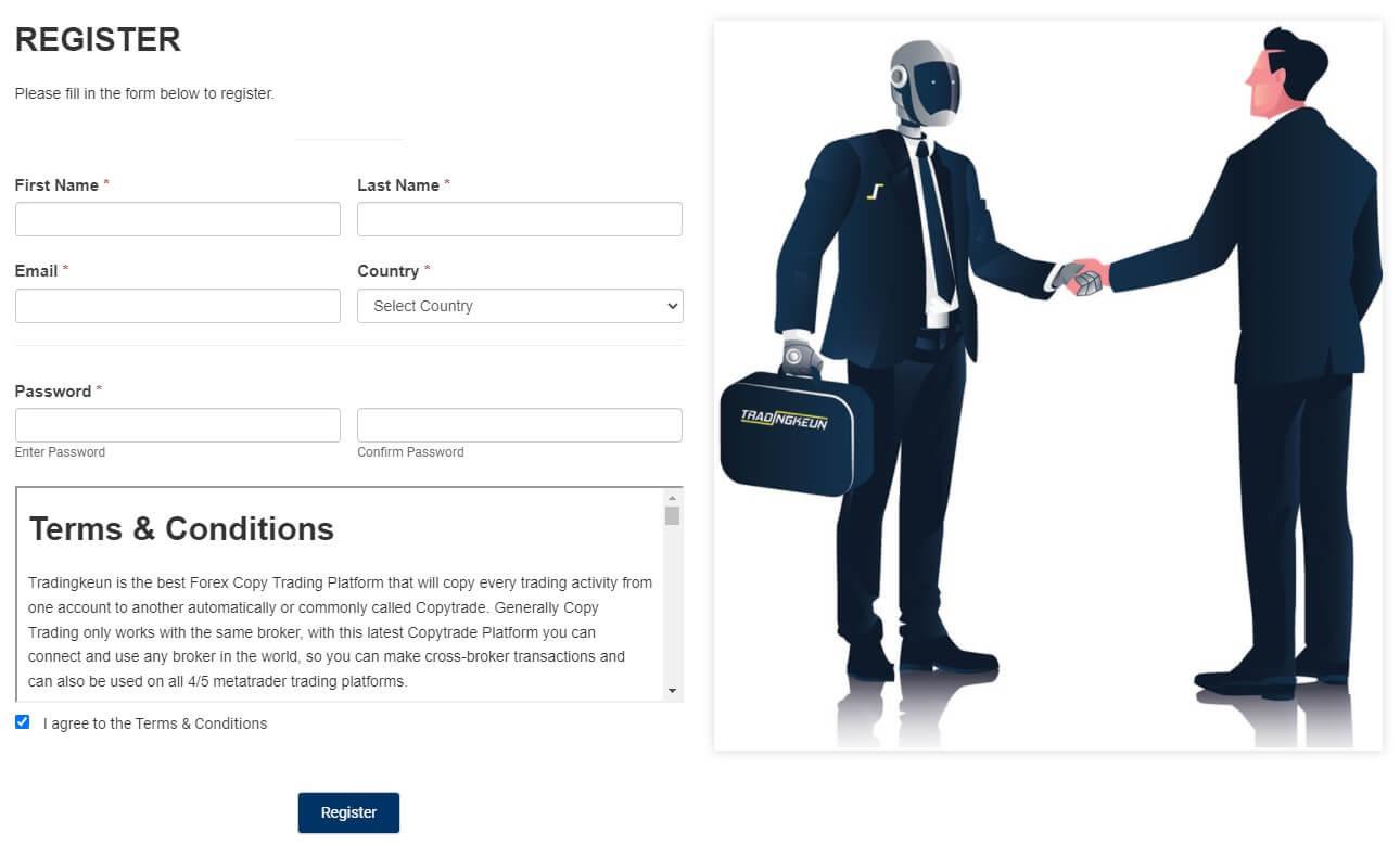 Register Form Tradingkeun